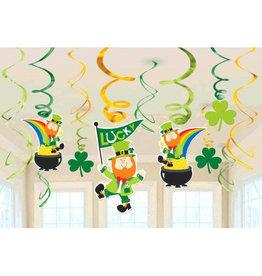 St. Patrick's Hanging Swirls, 12ct
