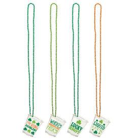 St. Patrick's Shot Glass Necklace, 4ct