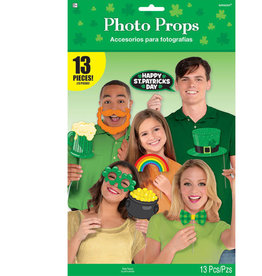 St. Patrick's Day Photo Props, 13ct