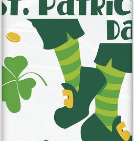 "St. Patrick's Plastic Rectagular Tablecloth 54"" x 84"""