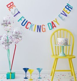 """""""Best Fucking Day Ever!"""" Balloon and Banner Kit, 6ct"""