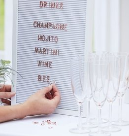 Large White Letter Peg board With Copper Letters