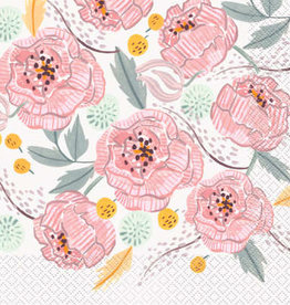 Painted Floral Luncheon Napkins 16ct