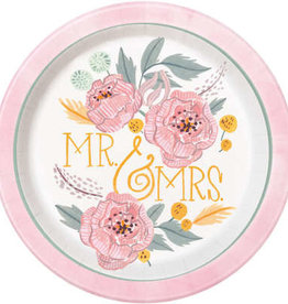 "Painted Floral Round 9"" Dinner Plates 8ct"