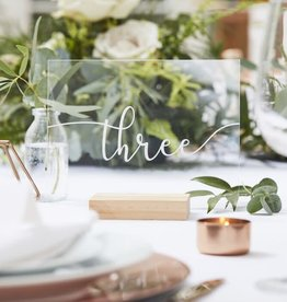 Acrylic Table Numbers, 1-12