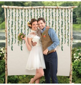 Love and Leaves Botanical Canvas Backdrop