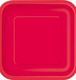 "Red Square 7"" Plates, 16ct"