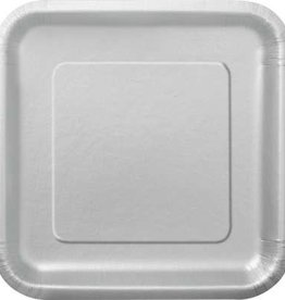 """Silver 9"""" Square Plates, 14ct"""