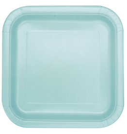 "Mint 9"" Square Plates, 14ct"