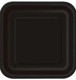 "Black 9"" Square Plates, 14ct"