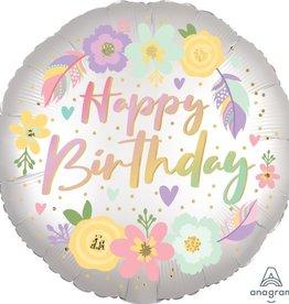 """Boho """"Happy Birthday"""" 18"""" Mylar"""