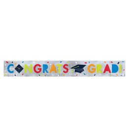 Navy Class of Awesome Foil Fringe Banner, 5FT