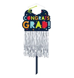 Navy Fringe Lawn Sign Grad