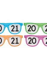 2021 Multi Pack Neon Glasses, 8ct