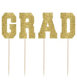 Grad Cake Picks, 4ct