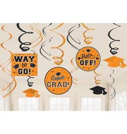 Orange Grad Value Pack Swirl Decorations, 12ct