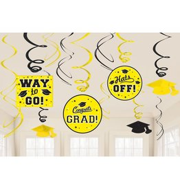 Yellow Grad Value Pack Swirl Decorations, 12ct