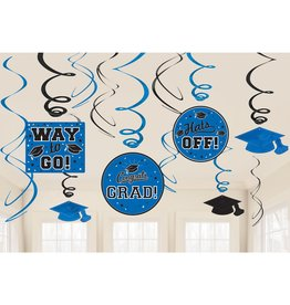 Blue Grad Value Pack Swirl Decorations, 12ct