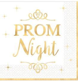 """Prom Night"" Foil Stamped Beverage Napkins, 16ct"