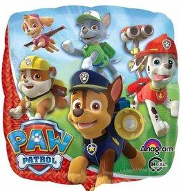 """Paw Patrol Square Foil Balloon 18"""""""