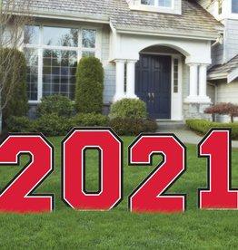 2021 Grad Yard Sign - Red