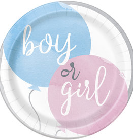 "Gender Reveal Party 9"" Dinner Plates, 8ct"