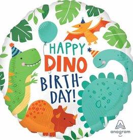 """Happy Dino"" Birthday Foil Balloon 18"""