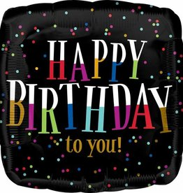 "Colour Levels 'Happy Birthday' 18"" Foil Balloon"