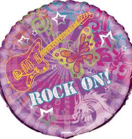 "Rock On Foil Balloon 18"""
