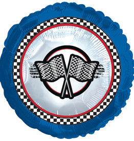 "Racing Flag Foil Balloon 18"""