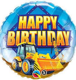 "Construction Happy Birthday Foil Balloon18"""