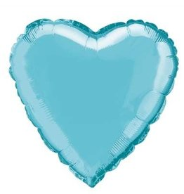"""Baby Blue Solid Heart Foil Balloon 18"""""""