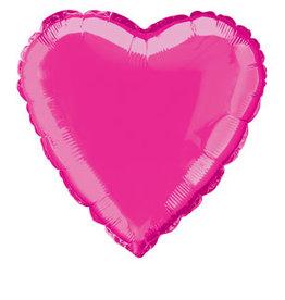 """Hot Pink Heart Foil Balloon 18"""""""