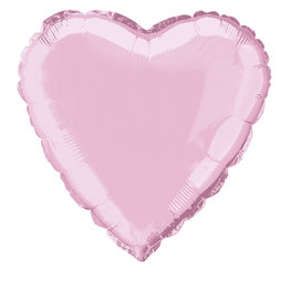 """Pastel Pink Solid Heart Foil Balloon 18"""""""