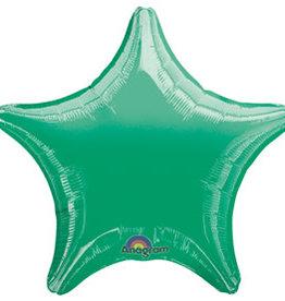 """Dark Green Star Foil Balloon 18"""""""
