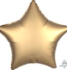 """Gold Satin Matte Luxe Star Foil Balloon 18"""""""