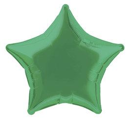 "Emerald Green Star Foil Balloon 20"""