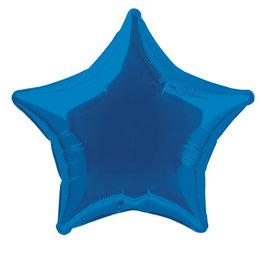 "Royal Blue Star Foil Balloon 20"""