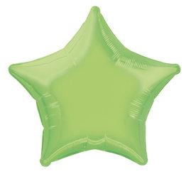 "Lime Green Star Foil Balloon 20"""
