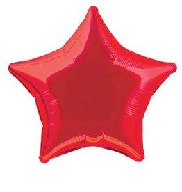 "Red Star Foil Balloon 20"""