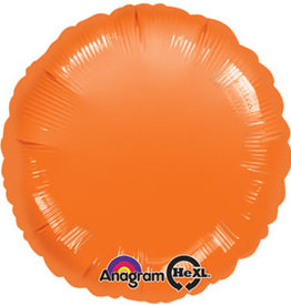 """Orange Round  Foil Balloon 18"""""""