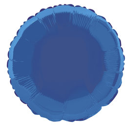"Royal Blue Round Foil Balloon 18"""