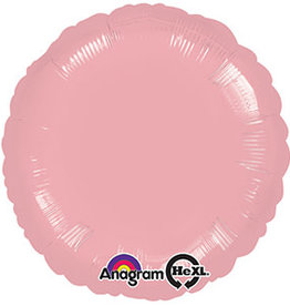 Light Pink Round Foil Balloon 18""