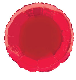 Red Round Foil Balloon 18""