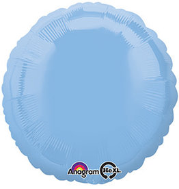 Light Blue Round Foil Balloon 18""