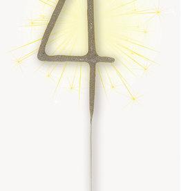 """Number '4' Sparkler Candle, 7"""""""