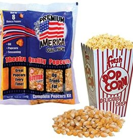 All In One Popcorn Kit - Pre Measured for 8oz Poppers