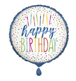 "Candle 'Happy Birthday' 18"" Mylar"