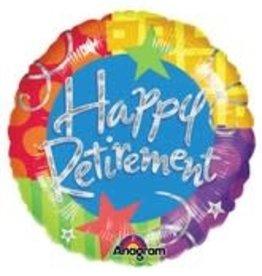 "Large 'Happy Retirement' Foil Balloon 32"""
