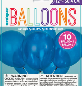 "12"" Latex Balloons 10ct - Twilight Blue"